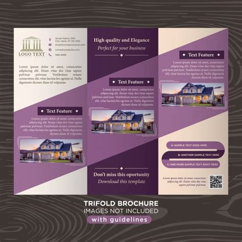 template brochure elegant elegant purple business design trifold brochure template