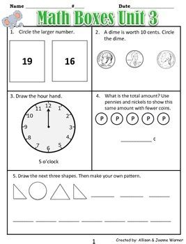pattern review grade 3 1st grade unit 3 review everyday math patterns and