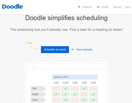 doodle schedule maker best calendar maker tools that can manage your
