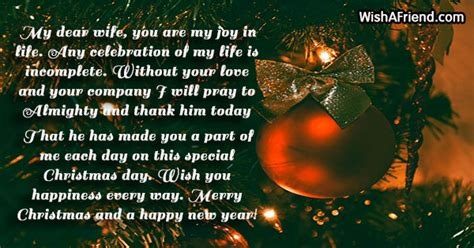 dear wife    christmas message  wife