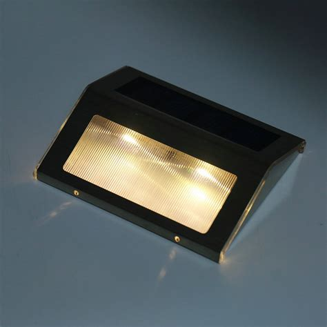 Led Stair Lights Outdoor Led Solar Power Path Stair Outdoor Light Garden Fence Wall Landscape L Jh Ebay