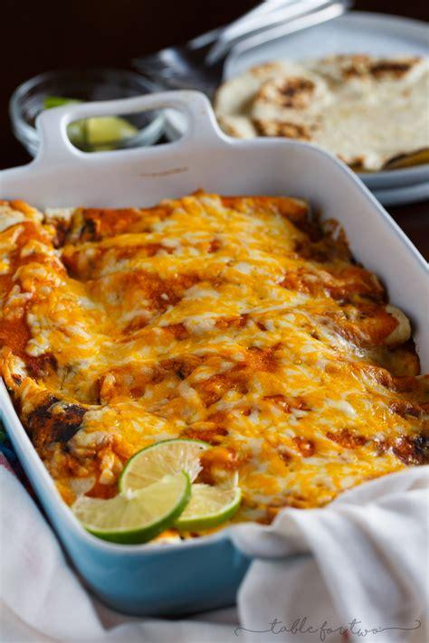 homemade chicken enchiladas table    julie wampler