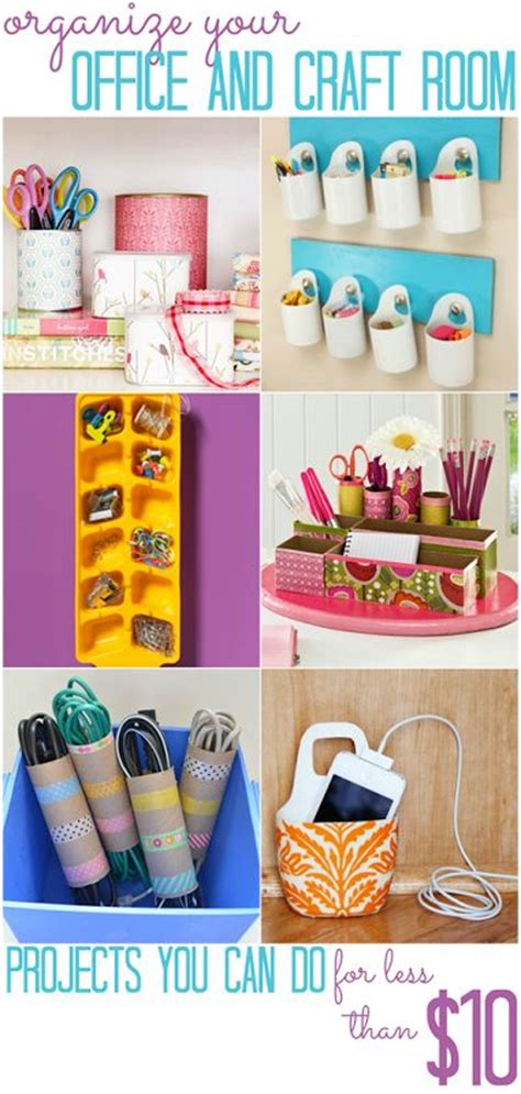 cheap organization ideas craft space organizations and offices on pinterest