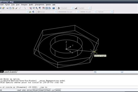autocad nut tutorial tutorial making a hex nut in autocad 2004 grabcad