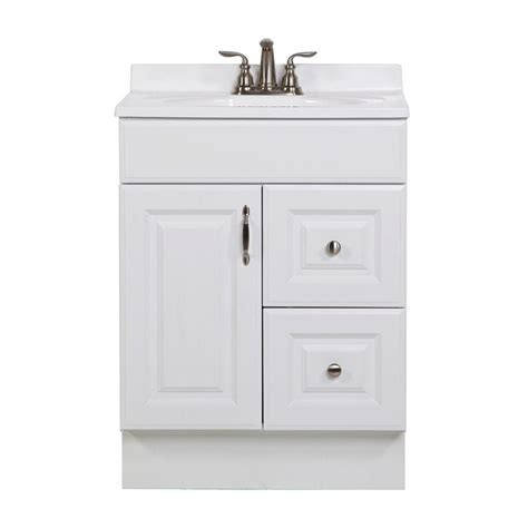 St Paul Bathroom Vanity St Paul Arkansas 24 In Vanity Cabinet Only In White Arsd2418 The Home Depot
