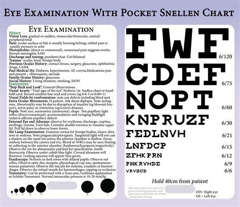 printable pocket eye chart pocket snellen chart and eye exam medical medicine or