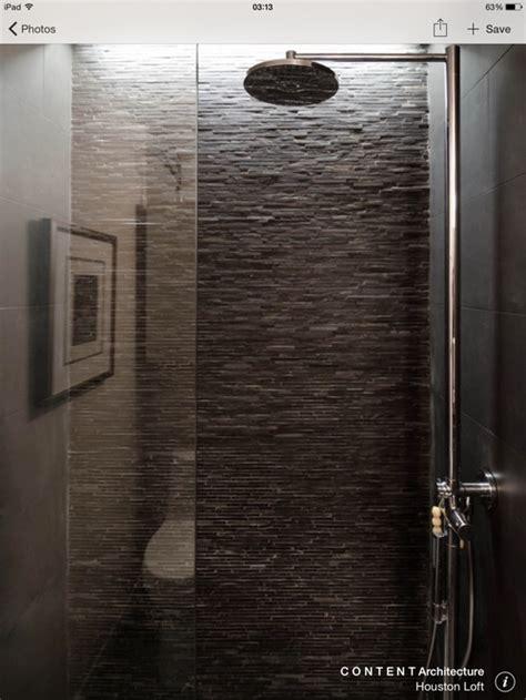 slate tile shower using split slate in a shower