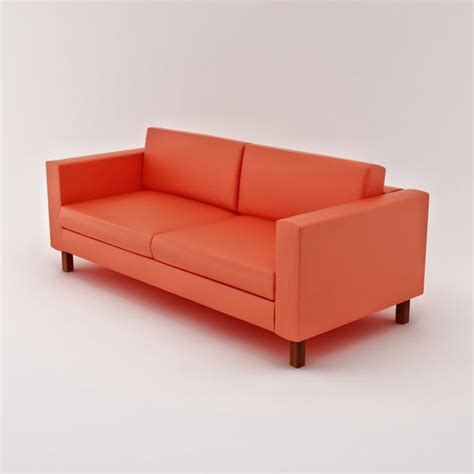 ikea karlstad leather sofa karlstad loveseat 3d model