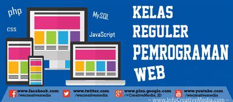 Pemrograman Web kursus reguler pemrograman web berkualitas creative