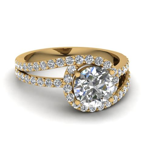 18k yellow gold vintage engagement rings