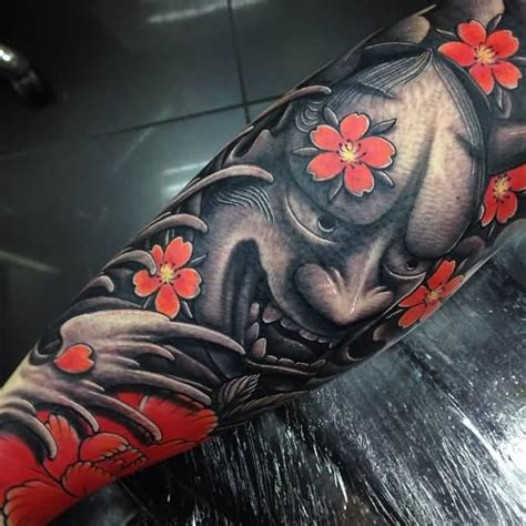 realistic hannya mask tattoo 35 latest hannya leg tattoos