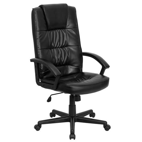 high back executive chair leather high back black bonded leather executive office chair by