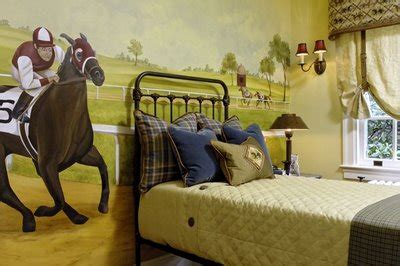 cing themed bedroom horse racing theme vacation home interiors