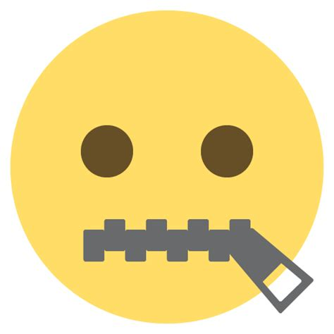 emoji zipped mouth zipper mouth face emoji for facebook email sms id