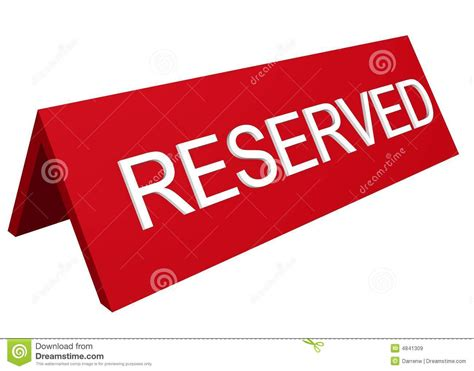 This Room Is Reserved Sign by Reserved Sign Royalty Free Stock Images Image 4841309