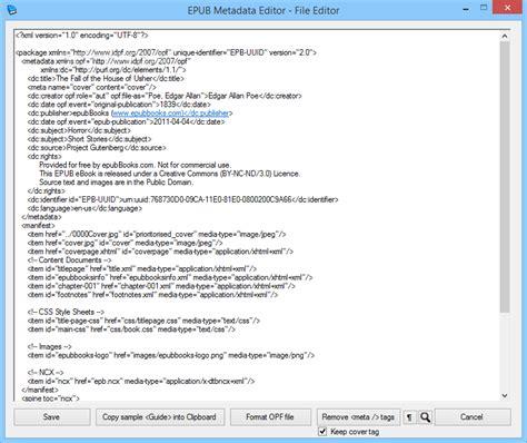 best epub editor epub metadata editor 1 6 9