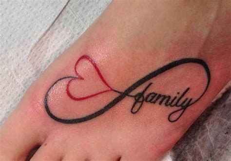 family heart tattoo designs 10 infinity tattoos on foot