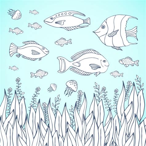 the aquarium colouring books 1910552321 coloring book page kids coloring page with aquarium fishes kids coloring page with