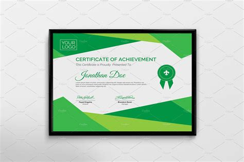 green card template paint shop pro certificate template stationery templates creative market