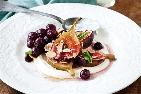 No Bake Dessert Sorbet With Limoncello Spiked Fruit by Honey Roasted Figs With Limoncello Creme Fraiche Recipes