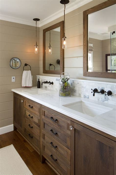 rustic farmhouse bathroom 34 rustic bathroom vanities and cabinets for a cozy touch