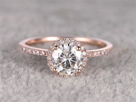 Vintage Verlobungsring by 1 25ct Brilliant Moissanite Engagement Ring Gold