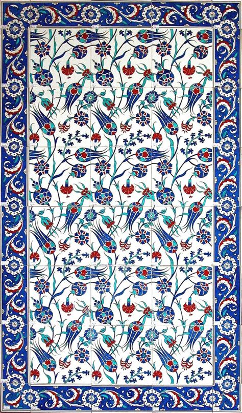 pattern in islamic art turkish tile art serbet laleler b jpg 709 215 1207 231 ini