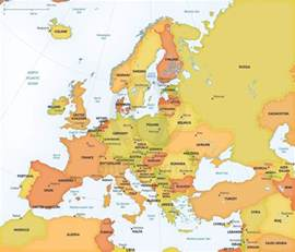map of european continent vector map of europe continent political one stop map