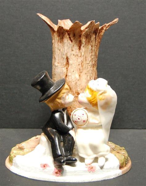 Vase Topper by Wedding Cake Topper Vintage Groom Wilton 1971 Vase