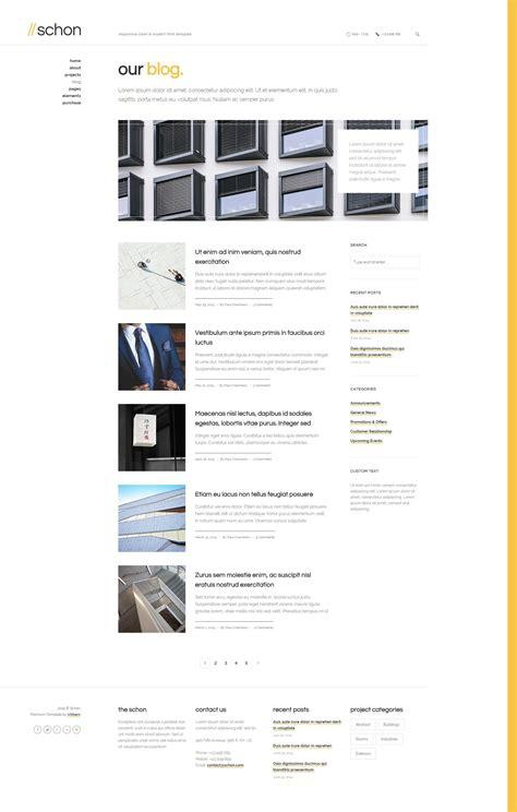themeforest blog listing schon responsive modern html template by uxbarn