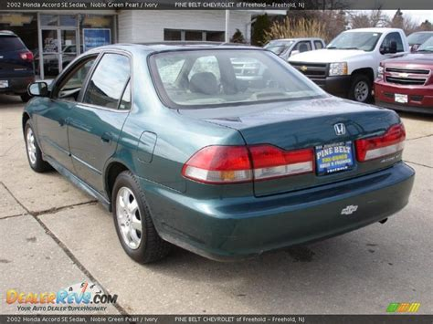 2002 green honda accord 2002 honda accord se sedan noble green pearl ivory photo