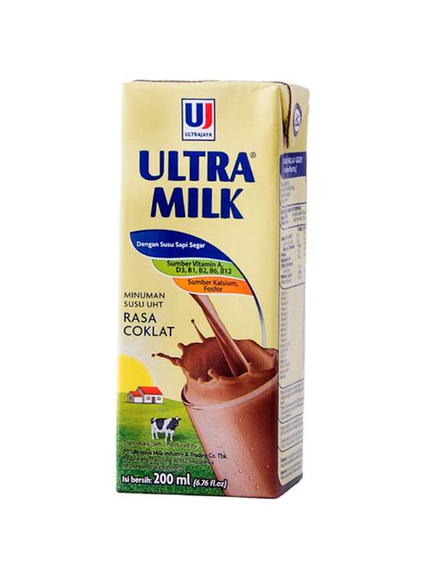 Ultra Milk Coklat 200ml ultra uht steril slim coklat tpk 200ml klikindomaret
