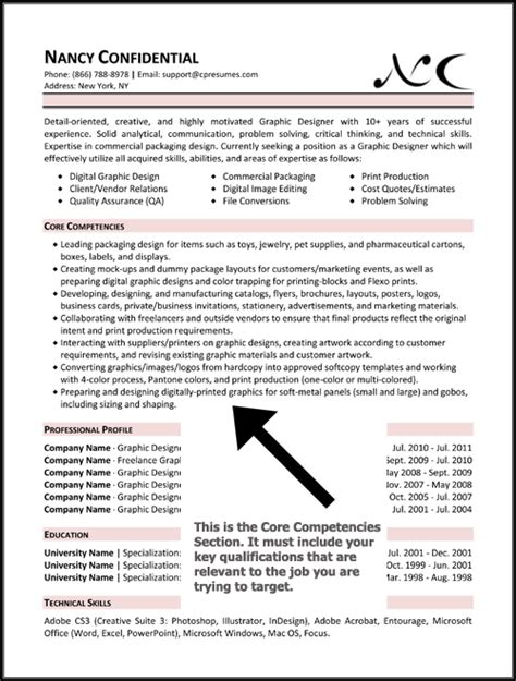 Resume Template Key Competencies Competencies Resume Exles Images
