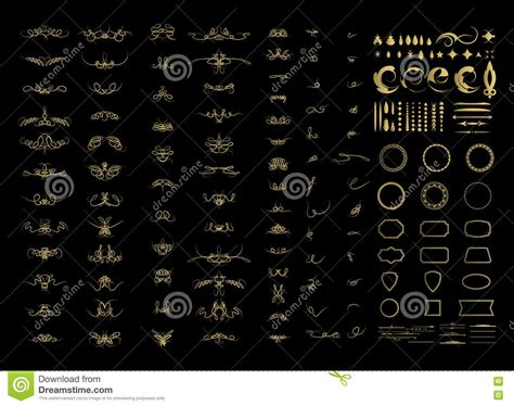 vector decorative design elements page decor calligraphic design elements and wicker lines in vector