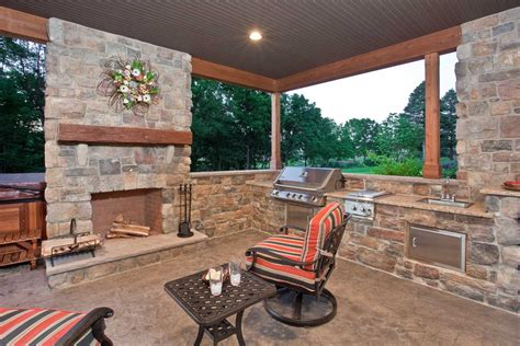 Patio Fireplace by Merv Miller Builder Llc Custom Home Builder Lancaster