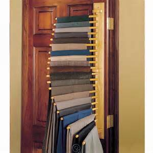 Pant Rack For Closet by 20 Pair Hanging Rack Closet Organizer Oak Wood