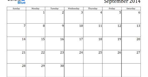 calendar blank template 2014 blank september 2014 calendar printable printable
