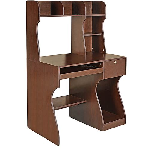 study table and chair for adults buy miguel study table in brown colour by home