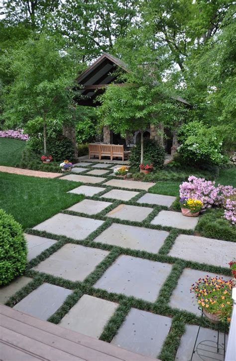 Landscape Ideas With Pavers Triyae Backyard Landscaping Ideas With Pavers