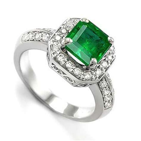 anzor jewelry 18k solid white gold emerald