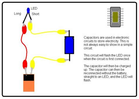 capacitor across led science for school home