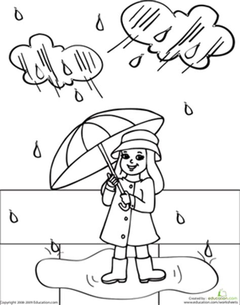 color rainy day rosie coloring page education com