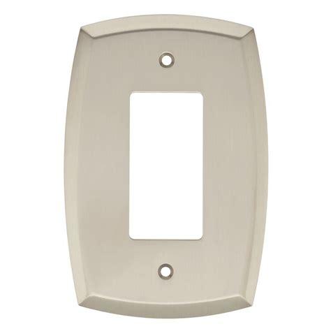 brushed nickel light switch covers liberty mandara decorative single rocker switch plate