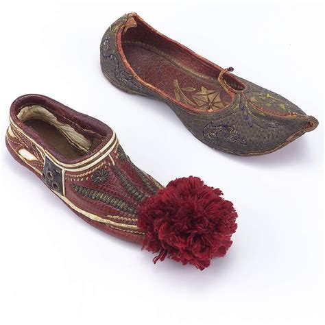 turkish slippers leather two vintage turkish slippers not pairs from vininghill on