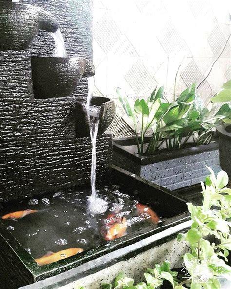 model kolam ikan  air mancur unik kolam ikan minimalis