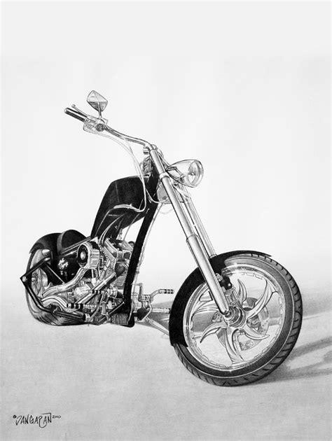 Motorrad Chopper Arten by Apollo Chopper Drawing By Tim Dangaran