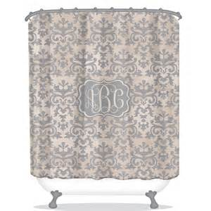 Vintage Shower Curtains Personalized Damask Shower Curtain Vintage Damask Shower Curtain Nautical Personalized