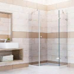 Glass Shower Enclosures With Base Corner Shower Doors Shower Doors Showers The Home Depot