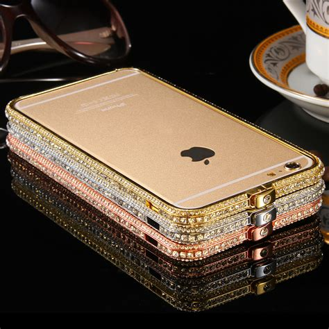 Iphone 7 Plus Luxury Bumper Armor Mewah Diamon Mirror Casing Sarung aliexpress buy shiny rhinestone bumper for iphone 6 4 7 plus 5 5 deluxe glitter