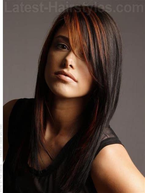hair cut medium length long front short at the back oval face hairstyles short medium long length 2014 0017
